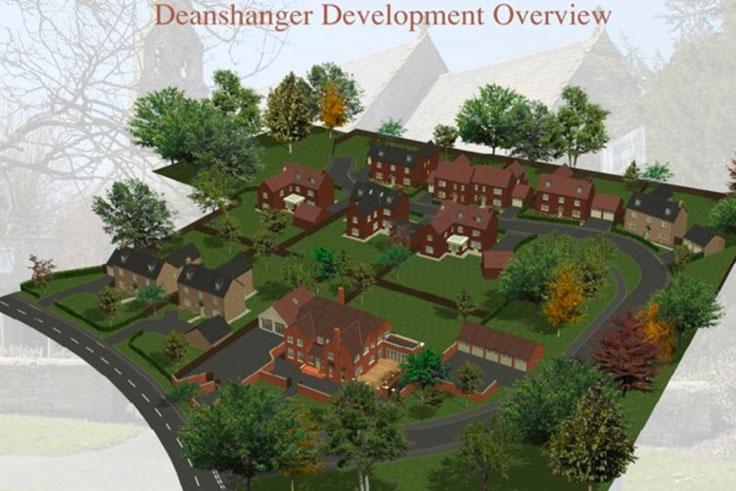 Woodville Gardens Deanshanger Map